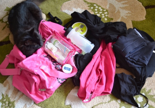 My dance bag...exploded